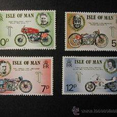 Sellos: ISLA DE MAN 1975 MOTOS 4 SELLOS. Lote 32463217