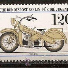 Sellos: ALEMANIA,BERLIN,PRO JUVENTUD,MOTOCICLETAS HISTORICAS DE LOS MUSEOS ALEMANES,NUEVO CON GOMA.. Lote 13458597