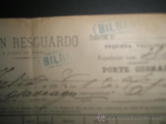 Sellos: CARTA DE PORTE DE LOS CAMINOS DE HIERRO DEL NORTE 1898 CON MATASELLO LINEAL - Foto 2 - 13862508