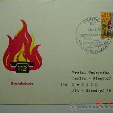 Sellos: 9866 BOMBEROS ALEMANIA SOBRE PRIMER DIA FDC SPD AÑO 1979 - MAS DE ESTE TEMA EN MI TIENDA C&C. Lote 14334535