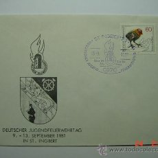 Sellos: 9871 BOMBEROS ALEMANIA SOBRE PRIMER DIA FDC SPD AÑO 1981 - MAS DE ESTE TEMA EN MI TIENDA C&C. Lote 14334867