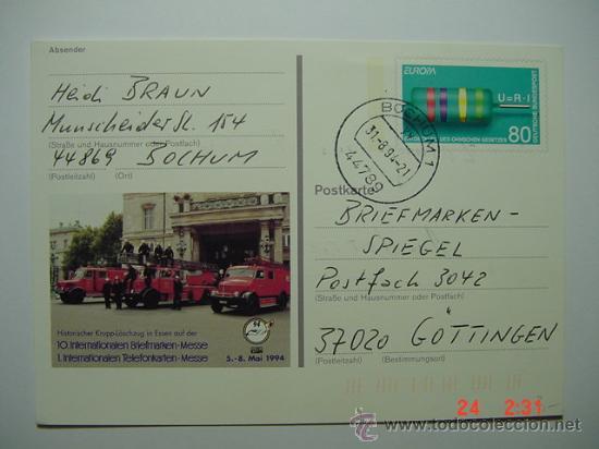 9868 BOMBEROS ALEMANIA TARJETA AÑO 1994 - MAS DE ESTE TEMA EN MI TIENDA C&C (Sellos - Temáticas - Otros Transportes)