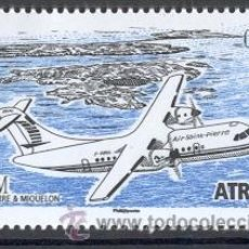 Timbres: SAN PEDRO Y MIQUELON 2009. AVIION ATR 42. Lote 14644298