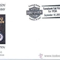 Sellos: ESTADOS UNIDOS 2009. MATASELLO ESPECIAL. MOTOS. MOTOR HARLEY DAVIDSON COMPANY. Lote 15381405