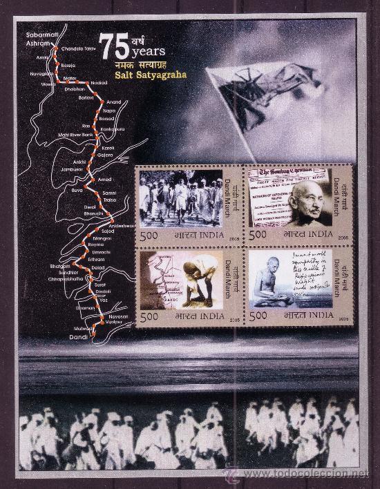 INDIA HB 31*** - AÑO 2005 - 75º ANIVERSARIO DE LA MARCHA DE LA JUSTICIA DE GANDHI (Sellos - Temáticas - Otros Transportes)
