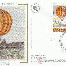 Sellos: FRANCIA IVERT Nº 2262, ASCENSIÓN DE CHARLES Y ROBERT GLOBO DE HIDROGENO, PRIMER DIA DEL 19-3-1983. Lote 18625283