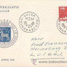 Sellos: SUECIA (IVERT Nº 0427), EL TRANSATLANTICO GRIPSHOLM II, MATASELLOS DEL 19-4-1959. Lote 19139230