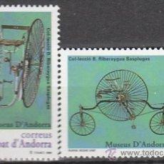 Sellos: ANDORRA EDIFIL Nº 268/9, BICICLETAS DE LA COLECCIÓN BONAVENTURA RIBERAYGUA, NUEVO. Lote 19660305