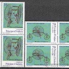 Sellos: ANDORRA EDIFIL Nº 268/9, BICICLETAS DE LA COLECCIÓN BONAVENTURA RIBERAYGUA, NUEVO EN BLOQUE DE 4. Lote 19660343