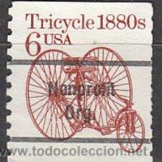 Timbres: ESADOS UNIDOS (21-26), TRICICLO DE 1880, USADO. Lote 19694496