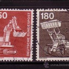 Sellos: ALEMANIA 859/60 - AÑO 1979 - INDUSTRIA Y TÉCNICA - VEHÍCULOS INDUSTRIALES. Lote 19795761