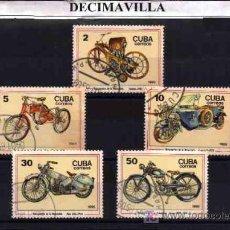 Sellos: TRANSPORTES, MOTOS, CUBA, 1985, L033, SERIE COMPLETA USADA . Lote 149247078