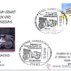 Sellos: ALEMANIA 2010. MATASELLO ESPECIAL . MOTOCICLETAS UTILIZADAS POR EL SERVICIO DE CORREO ALEMAN.. Lote 19864070