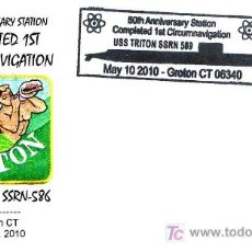 Sellos: SUBMARINOS - 50 ANIV. CIRCUMNAVEGACION USS TRITON SSRN-586. Lote 119557792