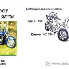Sellos: MATASELLOS DE MOTOCICLISMO. MOTORCYCLE AWARENESS STATION. CONOCER NC, ESTADOS UNIDOS, 2010. Lote 19999662