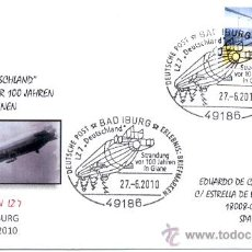 Sellos: ALEMANIA 2010. MATASELLO ESPECIAL. DIRIGIBLE ZEPPELIN LZ 7. DEUTSCHLAND. Lote 20705995