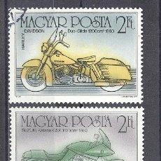 Briefmarken - HUNGRIA, MOTOCICLETAS, PREOBLITEADOS - 24853374