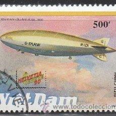 Sellos: VIET NAM IVERT 1130, DIRIGIBLE R-101 DE 1930, USADO. Lote 31035081