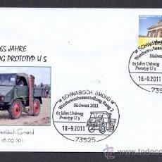 Briefmarken - ALEMANIA 2011. MATASELLO ESPECIAL TRANSPORTES. CAMIONES. UNIMOG PROTOTIPO U 5 - 28757120