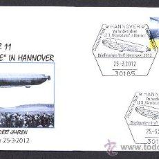Sellos: ALEMANIA 2012. MATASELLO ESPECIAL. DIRIGIBLE. ZEPPELIN LZ-11 VIKTORIA LUISE EN HANNOVER. . Lote 32512816