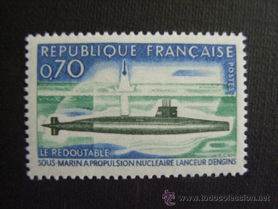 FRANCIA ,Nº YVERT 1615***AÑO 1969. SUBMARINO NUCLEAR LE REDOUTABLE (Sellos - Temáticas - Otros Transportes)