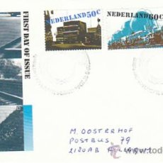 Sellos: HOLANDA IVERT 1135/7, MEDIOS DE TRANSPORTE, PRIMER DIA DEL 26-8-1980 . Lote 35451619