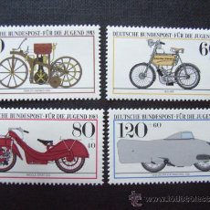 Briefmarken - MOTOCICLETAS. ALEMANIA FEDERAL Nº YVERT 1000/3*** AÑO 1983. MOTOCICLETAS HISTORICAS - 36049946