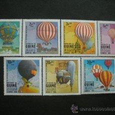 Sellos: GUINEA BISSAU 1983 IVERT 173/9 *** BICENTENARIO PRIMERA ASCENSIÓN EN GLOBO. Lote 36373380