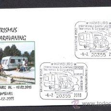 Sellos: ALEMANIA 2013. MATASELLO ESPECIAL. AUTO CARAVANAS. VACACIONES TRANSPORTES POR CARRETERA.. Lote 36421387