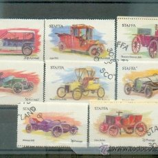 Timbres: COCHES ANTIGUOS.- EDÉE BOLLÉE- WOLSELEY- MERCEDES- FORD- ISOTA FRASCHINI- THOMSON STEAMER- AJAX Y LO. Lote 176586162