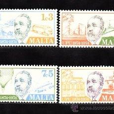 Sellos: MALTA 492/95** - AÑO 1974 - CENTENARIO DE LA UNION POSTAL UNIVERSAL - TRENES - AVIONES - BARCOS. Lote 38616709