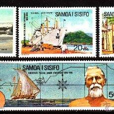 Sellos: SAMOA 341/44** - AÑO 1974 - BARCOS - AVIONES - CENTENARIO DE LA UNION POSTAL UNIVERSAL. Lote 40300257
