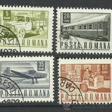 Sellos: POSTA ROMANA LOTE DE SELLOS TEMATICA TRANSPORTES- AVION- AUTOS- CAMION- TREN. Lote 41724313