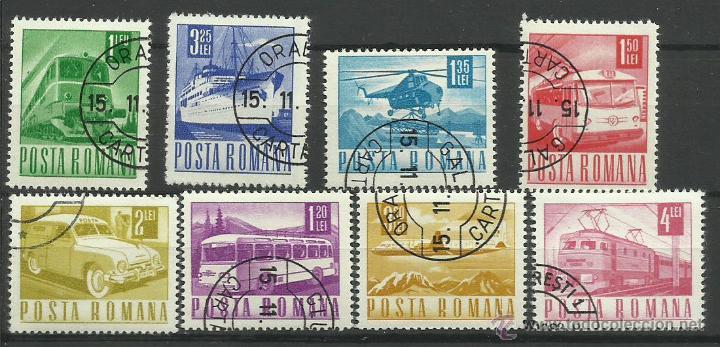 POSTA ROMANA 1983 LOTE DE SELLOS TEMATICA TRANSPORTES- AVION- AUTOS- CAMION- TREN- BARCO- BUS (Sellos - Temáticas - Otros Transportes)