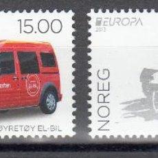 Sellos: NORUEGA 2013 - COCHES Y MOTOS . EUROPA - 2 SELLOS. Lote 43308881