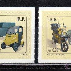 Sellos: ITALIA 2013 - COCHES Y MOTOS . EUROPA - 2 SELLOS. Lote 43308983