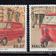 Sellos: MALTA 2013 - COCHES Y MOTOS . EUROPA - 2 SELLOS. Lote 43309144