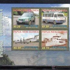 Sellos: PAPUA NEW GUINEA 2013 - AUTOMOVILES BARCO AVION - BLOCK. Lote 43309476