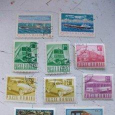 Briefmarken - LOTE De 10 SELLOS DE RUMANIA: MEDIOS DE TRANSPORTE: CAMIONES, BARCOS, TRENES, ETC ... - 43955029