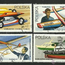 Sellos: POLONIA 1981 LOTE DE SELLOS TEMATICA MODELISMO- AUTOS- AVION- BARCOS. Lote 44754039