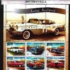 Sellos: CUBA, 2002, COCHES, SERIE + MP. Lote 46158080