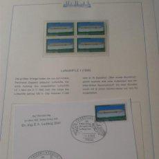 Sellos: ALEMANIA 1978 SELLOS Y TARJETA PRIMER DIA TEMATICA TRANSPORTE GLOBOS AEROSTATICOS- ZEPPELIN- FDC. Lote 48751432