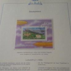 Sellos: CONGO 1977 HB SELLOS TEMATICA TRANSPORTE GLOBOS AEROSTATICOS- ZEPPELIN- DIRIGIBLE. Lote 48751534