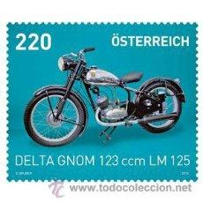 Sellos: MOTOCICLETAS. AUSTRIA, AÑO 2015. DELTA GNOM 123 CCM. LM 125. Lote 97168979