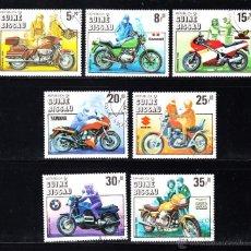 Sellos: GUINEA BISSAU 337/43 - AÑO 1985 - CENTENARIO DE LA MOTOCICLETA. Lote 49455977