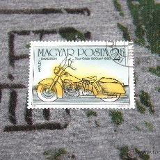 Sellos: SELLOS DE MOTOS - HARLEY DAVIDSON - DUO-GLIDE 1200 CM CÚBICOS 1960 - MAGYAR POSTA. Lote 50399054