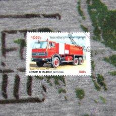 Sellos: SELLOS DE COCHES DE BOMBEROS - SAVAL - KRONENBURG RFF - 11000 - ROYAUME DU CAMBODGE. Lote 50422520