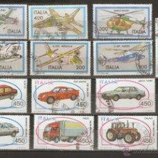Sellos: ITALIA. LOTE 1981-84. AVIONES Y AUTOMÓVILES.. Lote 52023095