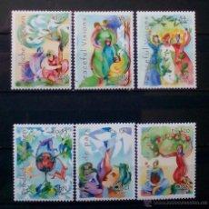 Sellos: ONU 2007 ARTE VISIÓN DE PAZ SERIE COMPLETA DE 6 SELLOS NUEVOS. Lote 53048271