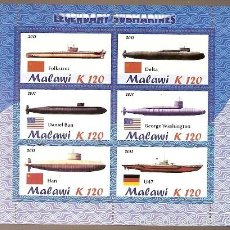 Sellos: MALAWI ** & SUBMARINOS LENDÁRIOS 2011 (3) . Lote 55128233